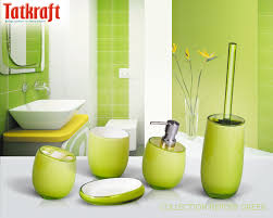 green bathroom accessories bathroom decor