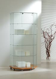 lockable glass display cabinet showcase our half octagon display showcase features a lockable door four