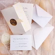wedding invitations sets gold embossed floral deco tri fold wedding invitation