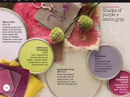shades of purple and warm gray i like this color combo for the