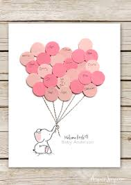 baby shower elephant baby shower guest book printable aspen