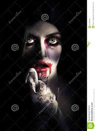 scary vampire woman bloody halloween horror royalty free stock