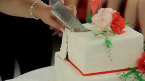 wedding cake cutting wedding cuts wedding cake cut cake stock footage