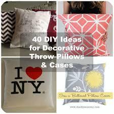Sofa Pillow Cases 40 Diy Ideas For Decorative Throw Pillows U0026 Cases