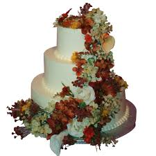 Fall Flowers For Wedding 1025 Fall Flowers Three Tier Wedding Cake Abc Cake Shop U0026 Bakery