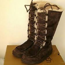 womens ugg boots size 9 64 ugg shoes uggs 5190 sz 9 tularosa lace up boots boho
