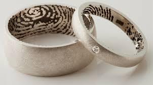 cool wedding rings wedding rings fingerprint bands spot cool stuff design