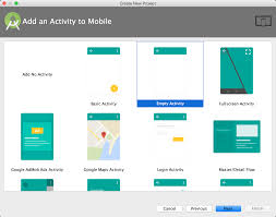 activity android プロジェクトの作成 android studio