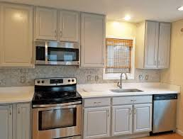 grey kitchen cabinets with granite countertops smooth gray marble