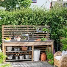 cuisine de jardin en cuisine d ete en bois interieur de chalet 13 constructions pool