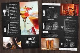 drink menu template new 2017 resume format and cv samples