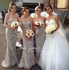 silver bridesmaid dresses vestido de festa de casamento grey silver lace bridesmaid dresses