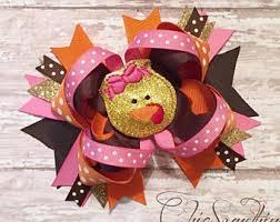 turkey headband turkey bow etsy