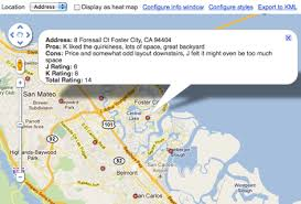 Google Fusion Tables Map Google Lat Long Finding The Perfect Home With Google Fusion Tables
