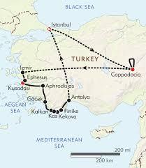Istanbul Turkey Map Turkey Private Journey Itinerary U0026 Map Wilderness Travel