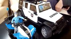 police jeep toy bruder toys news 2015 police quad with policewoman polizei quad