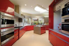 red high gloss kitchen cabinets contemporary kitchen modern
