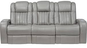 White Reclining Sofa 1 488 00 Servillo Platinum Grayish White Leather Power