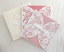 lace wedding invitations laser cut floral lace personalised wedding invitations