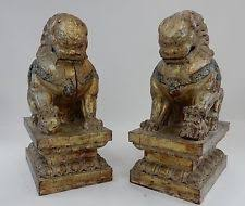 gold foo dogs foo dog gold antique statues ebay