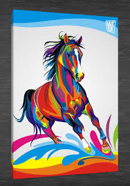 2017 hd canvas print home decor wall art painting color horse