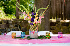 luau table centerpieces luau party table decoration ideas the s tables had a