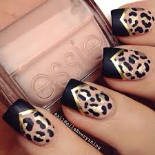 top 10 fun and easy nail tutorials leopard print nails striping