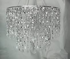 diamond chandelier large silver diamond cut beaded chandelier wedding decor direct
