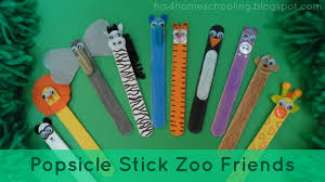 h is for homeschooling 25 popsicle stick animal friends