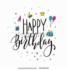 happy birthday simple design happy birthday party lettering sign quote stock vector hd royalty