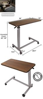 rolling adjustable bedside table bed and chair tables adjustable bedside table medical furniture