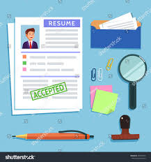 Resume Background Image Vector Flat Illustration Resume Cv Icon Stock Vector 493495252
