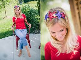 4th of july headband diy 4th of july glitter crown c makery