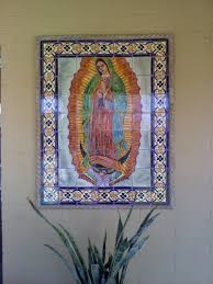 our lady virgen de guadalupe mexican tile mural mexican home