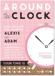 around the clock bridal shower around the clock pink invitation myexpression 32081