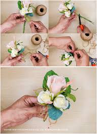 how to make boutonnieres paper flowers how to make boutonnieres oh everything handmade