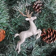 Silver Christmas Reindeer Decorations by Silver And Gold 3d Reindeer Christmas Decoration By Red Berry