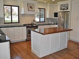 Wide Beadboard Paneling - sebastopol california kitchen with white shaker cabinets