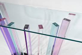 Lucite Console Table Haziza Rainbow Lucite Console Table For Sale At 1stdibs