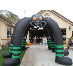 outdoor airblown spider archway with