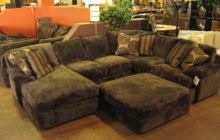 Sofa Leather And Fabric Combined by Gold Brown Velvet And Dark Brown Leather Sectional Sleeper Sofa