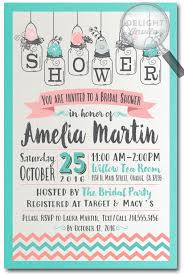 jar bridal shower invitations botanical rustic jar bridal shower invitations di 1514