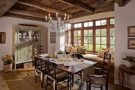 cream chairs white curtain modern farmhouse dining room black