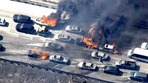 Western Us Wildfires 2015 by Cars Catch Fire After California Wildfire Jumps Freeway Nbc News