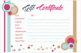 make your own gift card circle gift certificate template