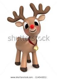 christmas reindeer 3d render christmas reindeer stock illustration 114045211
