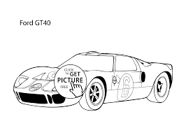 super car ford gt40 coloring page cool car printable free