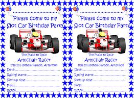 Disney Cars Armchair Birthday Parties Armchair Racer Slot Cars Scalextric Ninco