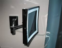 bathroom magnifying mirror with light lighted magnifying mirrors for hotels and private bathrooms hotel