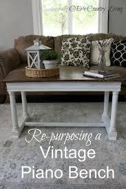 re purposing a vintage piano bench